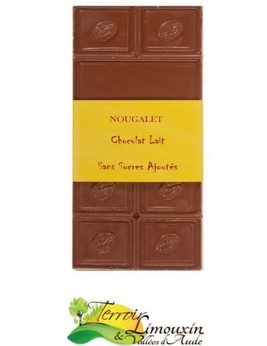 Tablette de Chocolat au Lait Sans Sucres Ajoutés