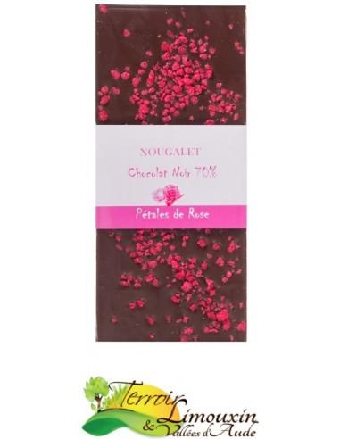 Chocolat Noir 70% Eclats de Rose