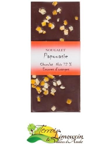 Chocolat Noir 72% Ecorce d'Orange
