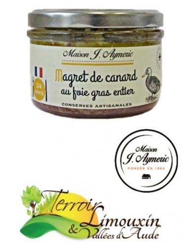Magret de carnard au Foie gras entier 180g
