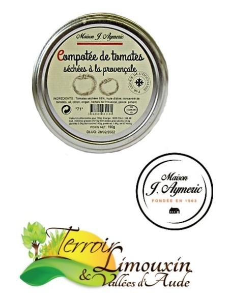 Compotée de Tomates séchées à la Provençale 160g