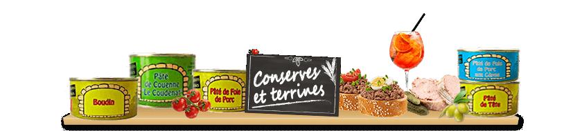 Conserves, Bocaux et Terrines
